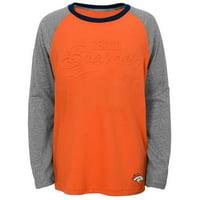 Product Image Youth Orange Denver Broncos Long Sleeve Raglan T-Shirt e9bff64aa