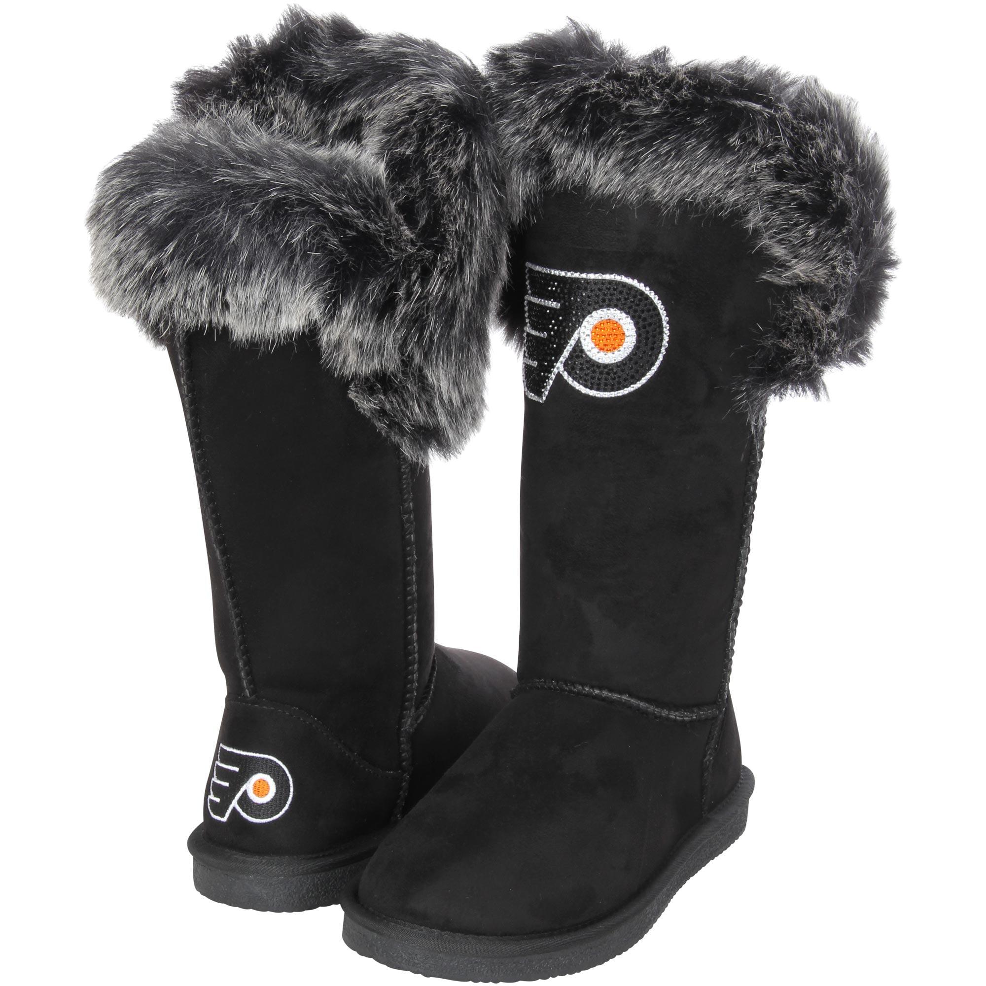 Women's Cuce Black Philadelphia Flyers Devoted Boots by Cuce Shoes