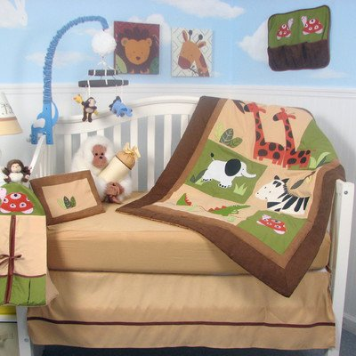 Safari Jungle Animals Baby 14 Piece Crib Nursery Bedding Set