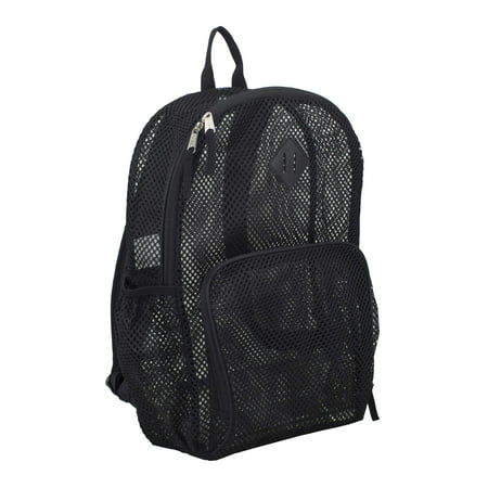 Eastsport Multi-Purpose Mesh Backpack with Front Pocket, Adjustable Straps and Lash
