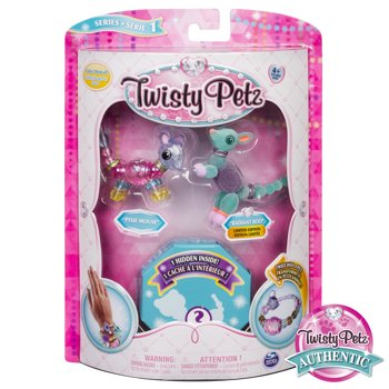 3-Pack Twisty Petz Collectible Bracelet Set for Kids