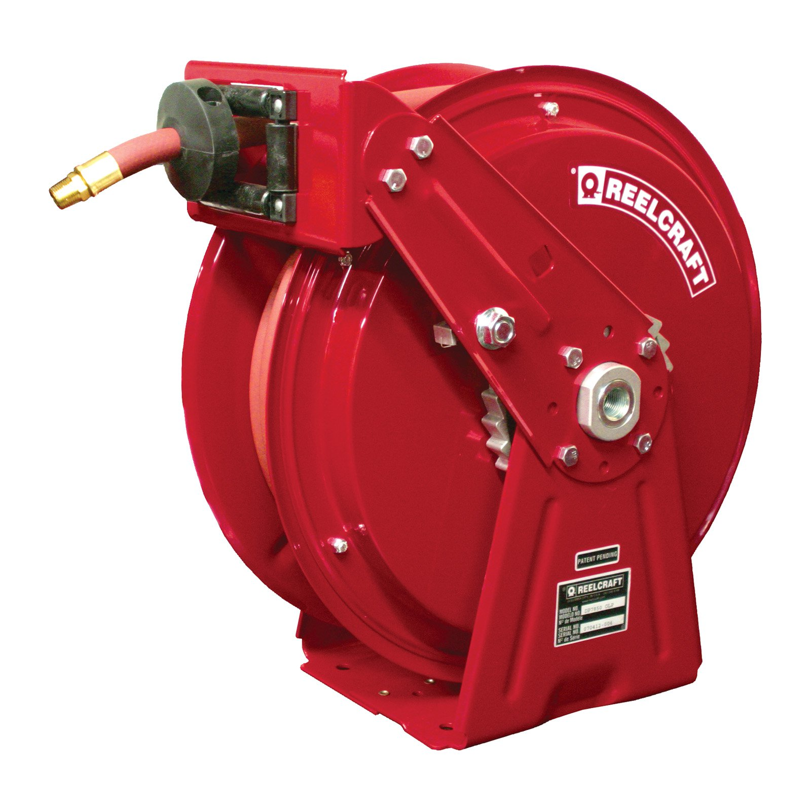 Reelcraft Compact Dual Pedestal Air Water 1 2 in. Hose Reel 50 ft. by Reelcraft