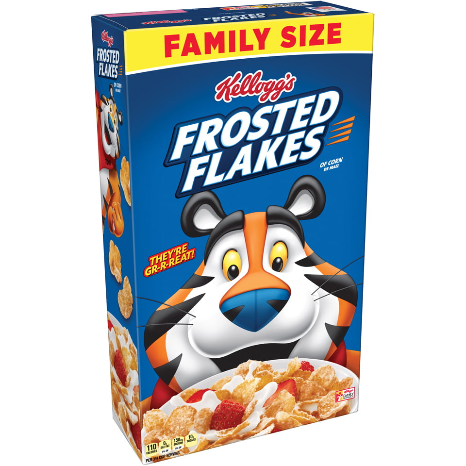 Kellogg's Frosted Flakes Breakfast Cereal, Original, 24 Oz by Kellogg Sales Co.