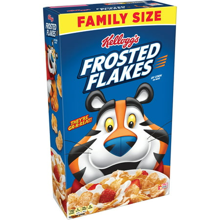 Cereal Dish - (2 Pack) Kellogg's Frosted Flakes Family Size Breakfast Cereal 24 Oz