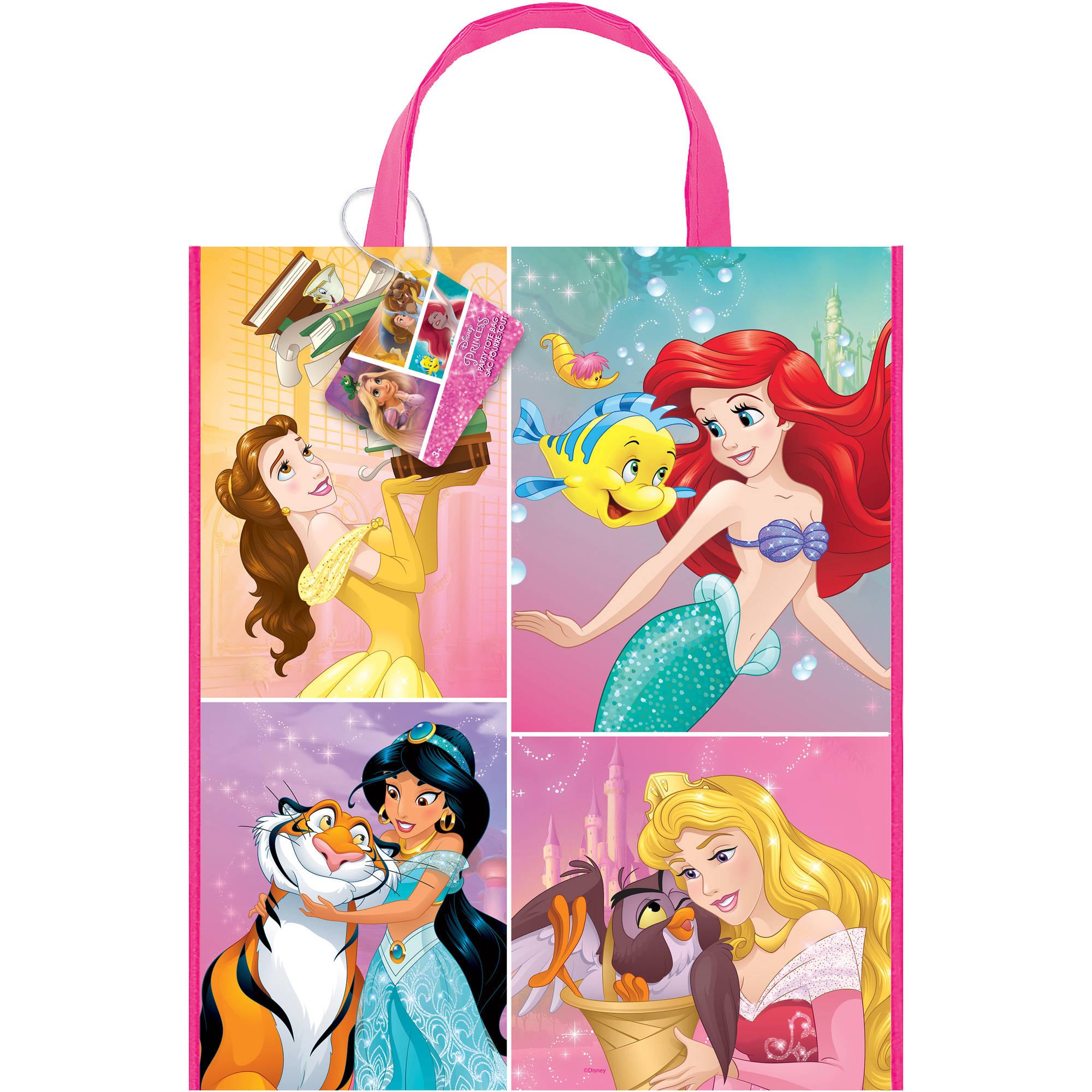Large Plastic Disney Princess Goodie Bag, 13 x 11 in, 1ct