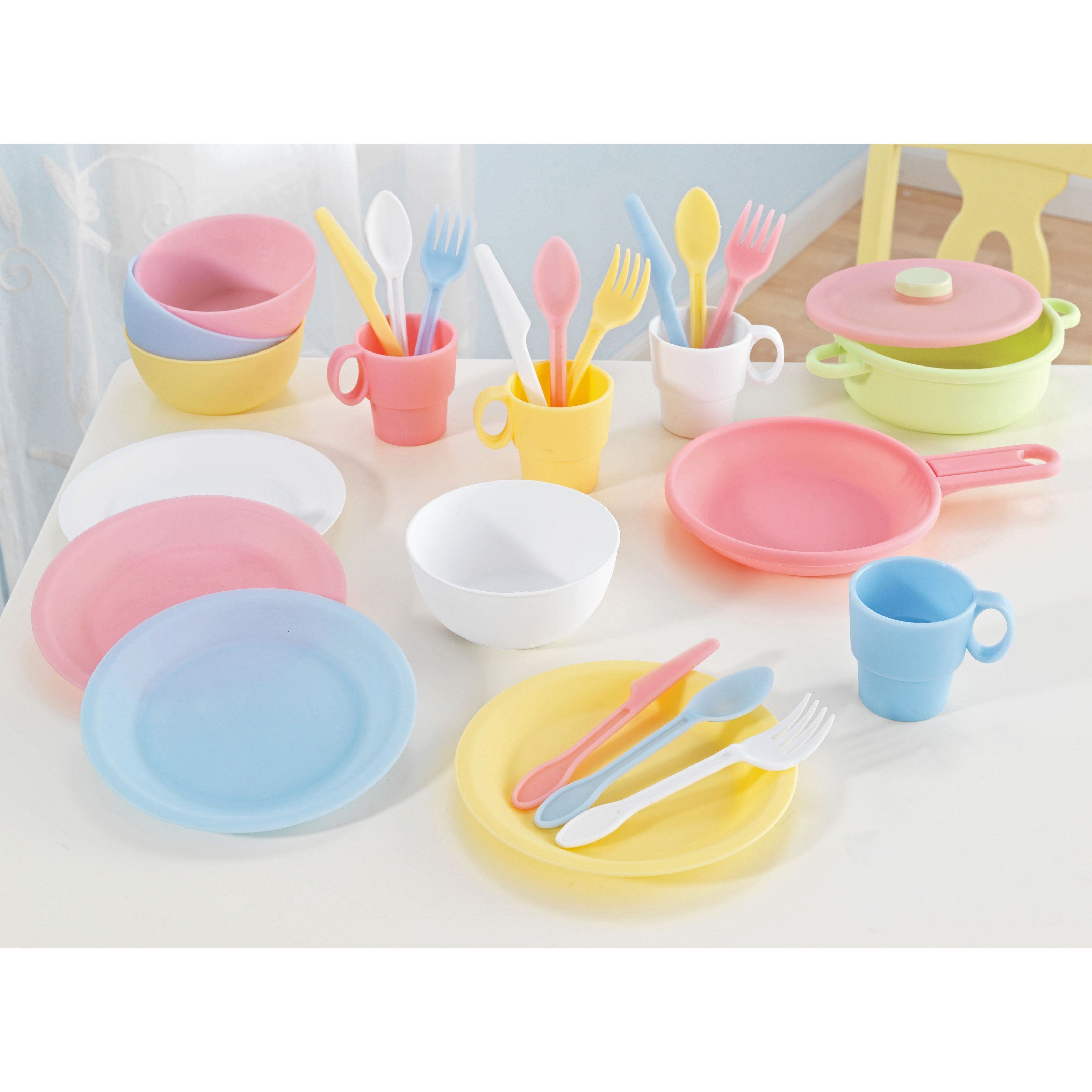 KidKraft 27-piece Kitchen Play Set, Pastel