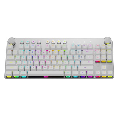 Option Key Computer - 魔炼者 MK11 Mechanical Gaming Keyboard Wired USB and Wireless BT 3.0 RGB Backlight Switchable 87 keys Gaming Keyboard for Computer Gamer