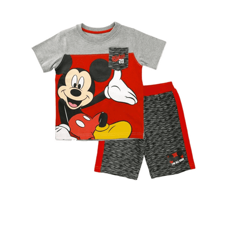 Disney Infant & Toddler Boys Happy Mickey Mouse Baby Outfit Color Block Set - Mickey Mouse Outfits For Boys