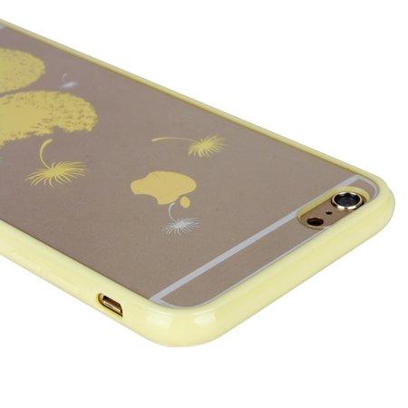 Unique Bargains Luxury Transparent Case Cover Yellow for Apple iPhone 6