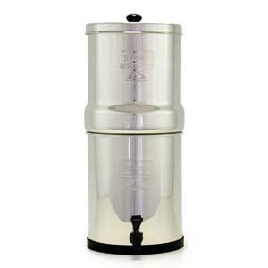 Click here to buy Berkey Water Purification System w Two 7'' White Ceramic Filters Travel Size.