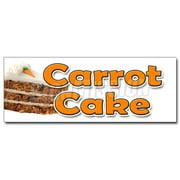 "12"" CARROT CAKE DECAL sticker carrots sweet cake cream cheese raisins icing"