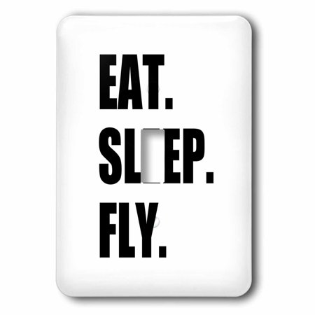 3dRose Eat Sleep Fly - fun gifts for pilots flight crew and frequent flyers, 2 Plug Outlet Cover