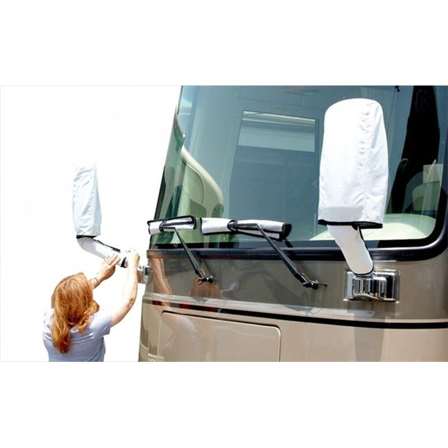 ADCO 2478 White RV Mirror And Wiper Blade Universal Cover Set With Storage Bag