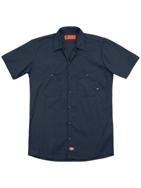 Chevy Bowtie Stacked Royal (Back Print) Mens Adult Work Shirt Navy
