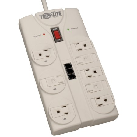 Tripp Lite Tlp808tel 8-outlet Surge Protector (2,160 Joules; 8ft Cord; Telephone/modem/fax Protection; $75,000 Ultimate Lifetime Insurance) ()