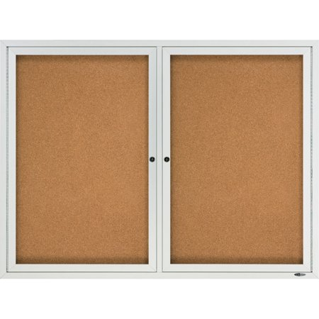 Quartet, QRT2124, 2-Door Enclosed Outdoor Bulletin Board, 1 / Each