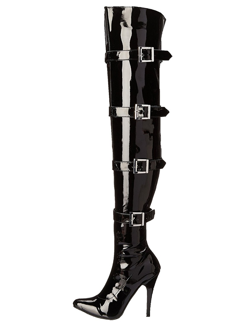 511-BUCKLEUP, 5'' Heel Stretch Thigh Boot .