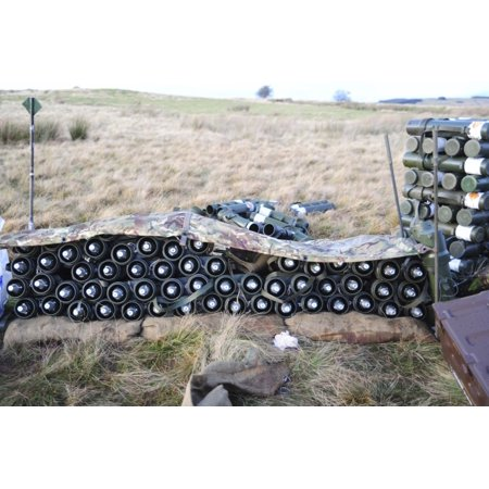 81mm mortar rounds ready stacked ready for use Stretched Canvas - Andrew  ChittockStocktrek Images (17 x 12)