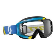 Scott Hustle Asymetric 2016 MX/Offroad Goggles Blue/Black/Clear Works Lens