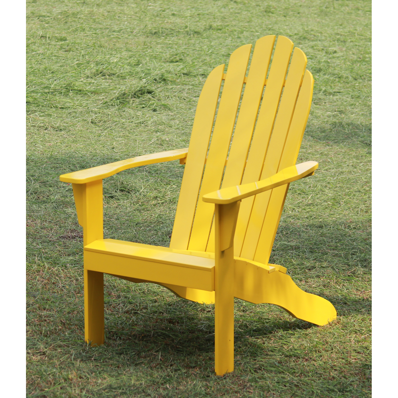 Bon Mainstays Yellow Adirondack Chair