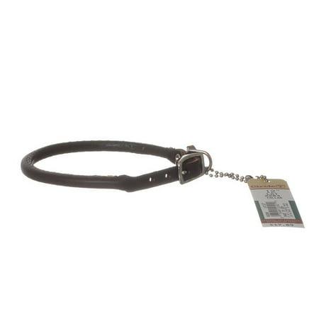 12 Round Leather - Circle T Latigo Leather Round Collar 12 Long x 3/8 Wide