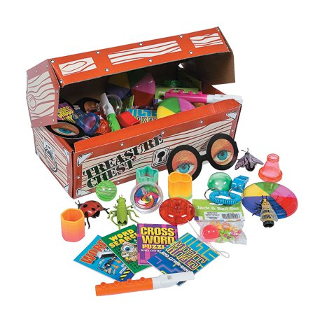Fun Express Deluxe Treasure Chest Toy Assortment (50 Piece) ()
