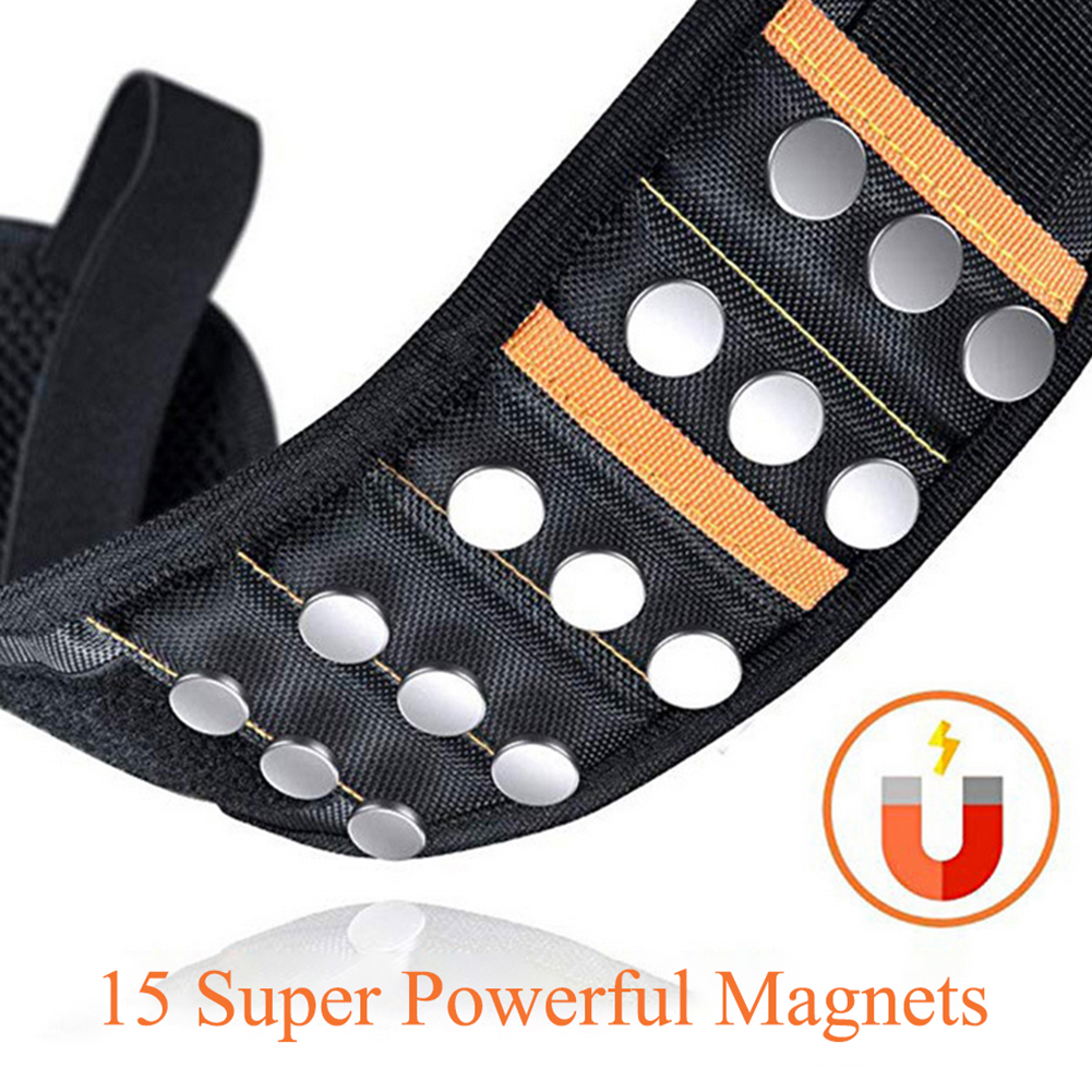 15//20 Super Magnetic Wristbands Holding DIY Tools Wrist Band Strap Pickup Repair