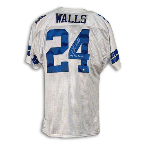 NFL - Everson Walls Dallas Cowboys Autographed White Throwback Jersey Inscribed 4X Pro Bowl