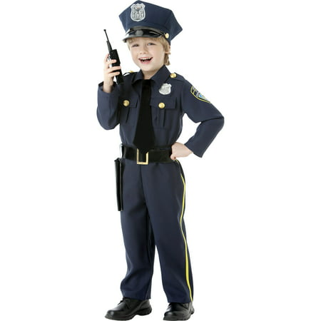 Classic Police Officer Halloween Costume for Boys, 2T, with (Men's Police Costumes)