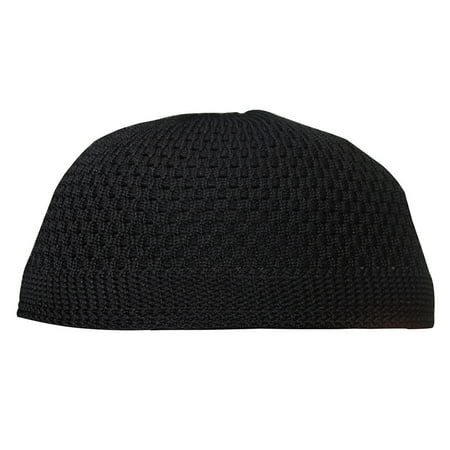 TheKufi® Nylon Black Open-weave Kufi Prayer Cap Muslim Hat