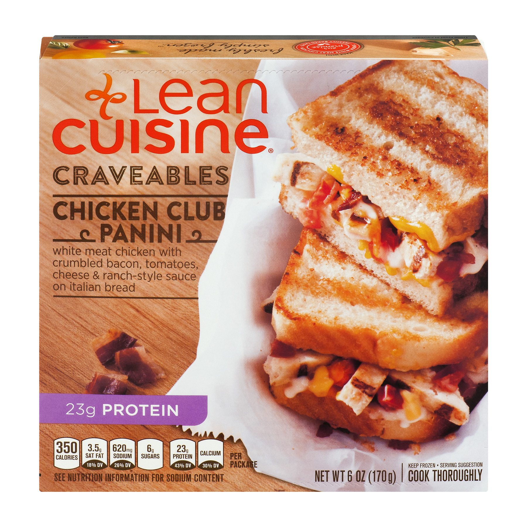 Lean Cuisine Craveables Chicken Club Panini, 6.0 OZ