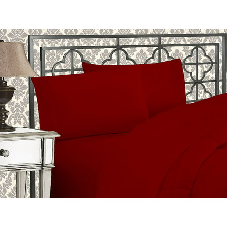 Elegant Comfort® 1500 Thread Count Egyptian Quality 2pcs PILLOW CASES - ALL SIZES AND COLORS, Queen, Burgundy - image 2 de 2