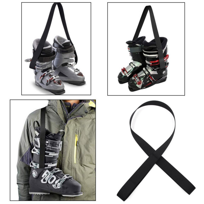 Coolrunner Snowboard Boot Carrier Strap Ski Pole Carriers Strap Ski Snow Winter Gear Accessory Adjustable Ski Carrier Strap for Ice Skates and Roller Skates