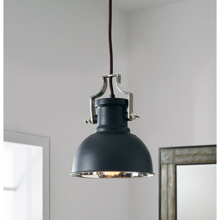 Kenroy Home Nautilus 1-Light Mini Pendant, Antique Bronze and Nickel