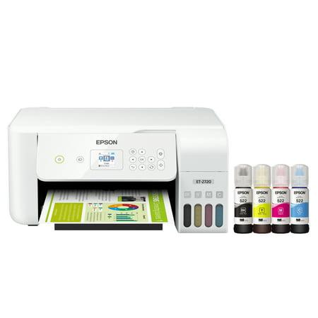 Epson EcoTank ET-2720 Wireless All-in-One Color Supertank Printer - White