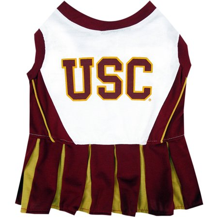 Pets First College USC Trojans Cheerleader, 3 Sizes Pet Dress Available. Licensed Dog (Usc Trojans Computer)