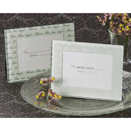 Live, Love, Laugh… Frosted Mini Photo Frame / Place Card Holder (Pack of 4) (Snowflake Place Card Frames)