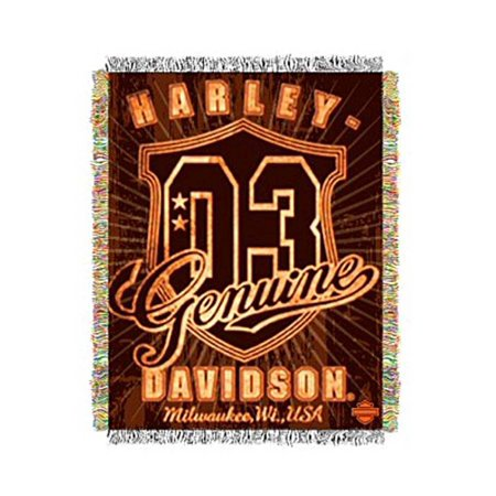 Harley-Davidson Genuine Metallic Tapestry Blanket