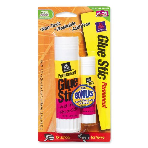 Avery Permanent Glue Stick - 1.27 Oz - 1/pack - White (AVE00191)