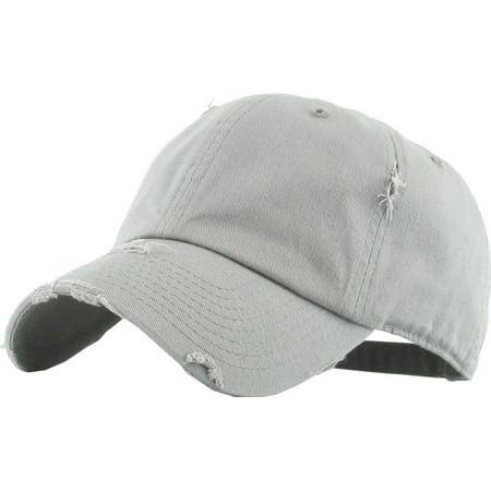 KBETHOS - Washed Solid Vintage Distressed Cotton Dad Hat Adjustable  Baseball Cap Polo Style - Walmart.com 3fddd72a99