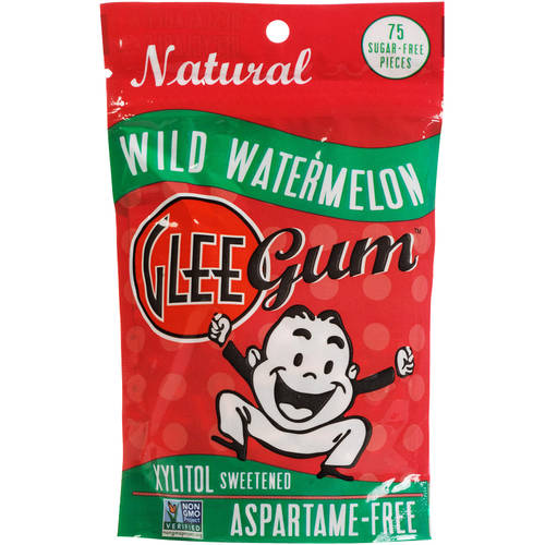 Glee Gum Wild Watermelon Sugar-Free Natural Chewing Gum, 75 count, (Pack of 3)