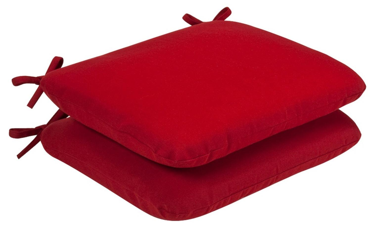 Pack Of 2 Outdoor Patio Furniture Chair Seat Cushions   Venetian Red