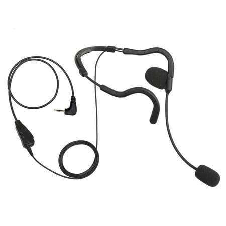 BOMMEOW BHDH01-M2 Ultra Light Single Ear Muff  Headset for Motorola TALKABOUT 1-PIN PMR446 Radio MR MH EM MC