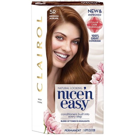 3 Pack - Nice 'n Easy Permanent Color, [5R] Medium Auburn 1 ea Easy Stick Permanent Roll