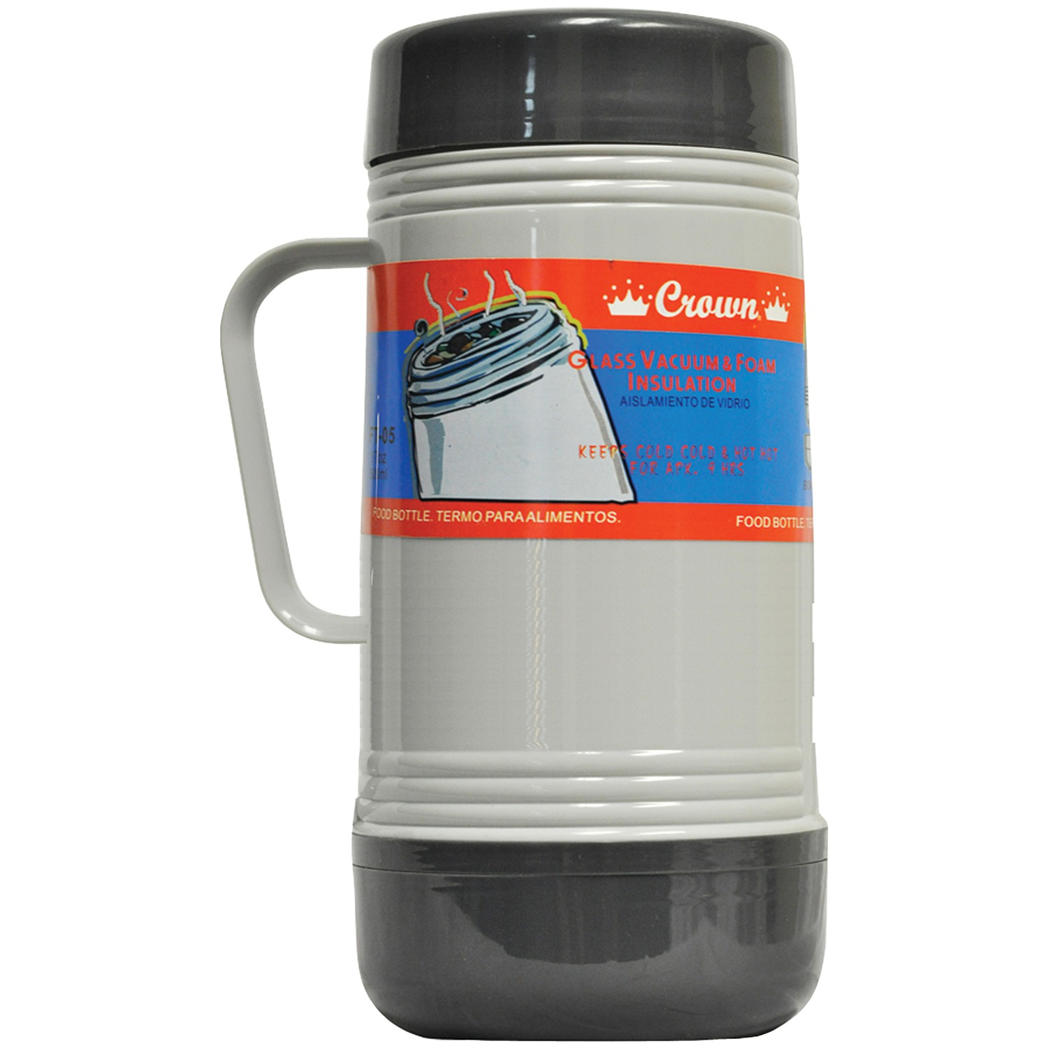 Royal Crown FT-10 Glass Vacuum Food Thermos (1.0 Liter)