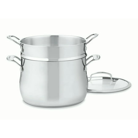 Cuisinart Contour Stainless 6 Quart Pasta Pot with Pasta Insert & (6 Quart Pasta)