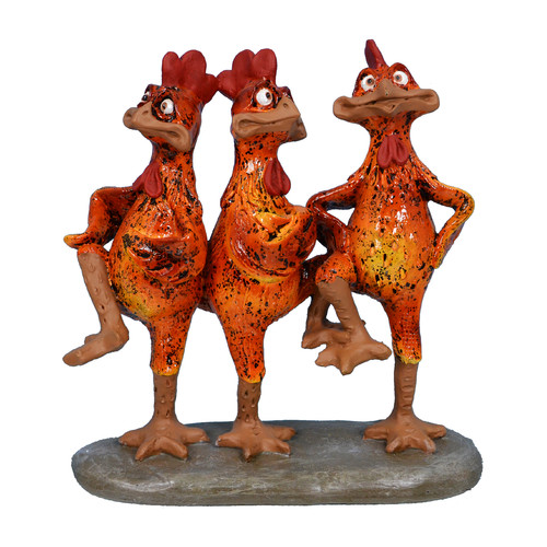 Fantastic Craft 8.3'' x 8.5'' Trio Dancing Rooster