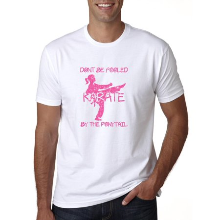 Karate Martial Arts Don't Be Fooled By the Ponytail Graphic Men's T-Shirt