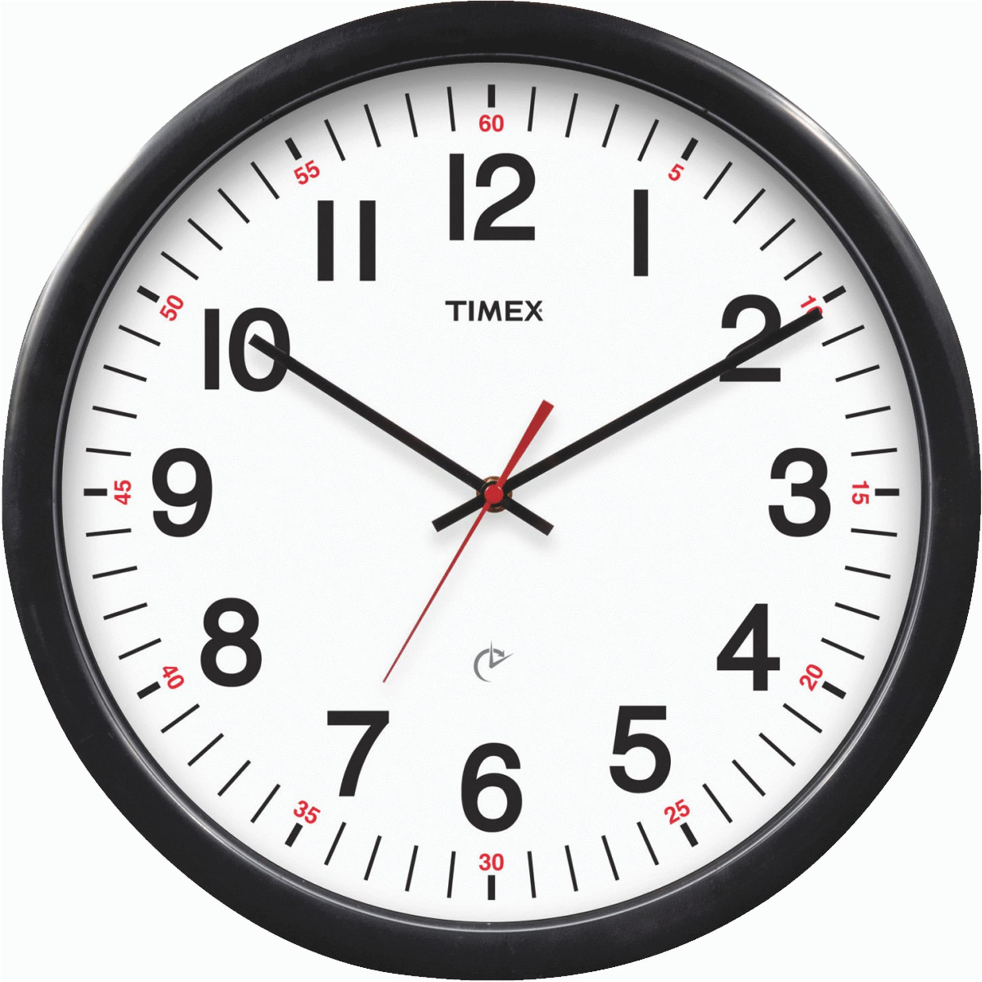 "timex 14-1/2"" set & forget timex office wall clock - walmart"