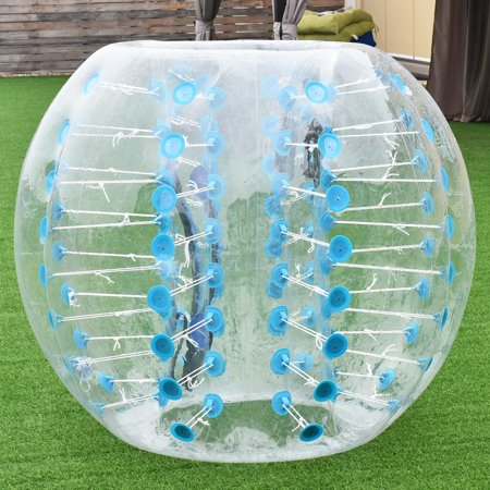 Costway 1 PC 1.5M Inflatable Bumper Ball Body Zorbing Ball Zorb Bubble Soccer/Football - Inflatable Body